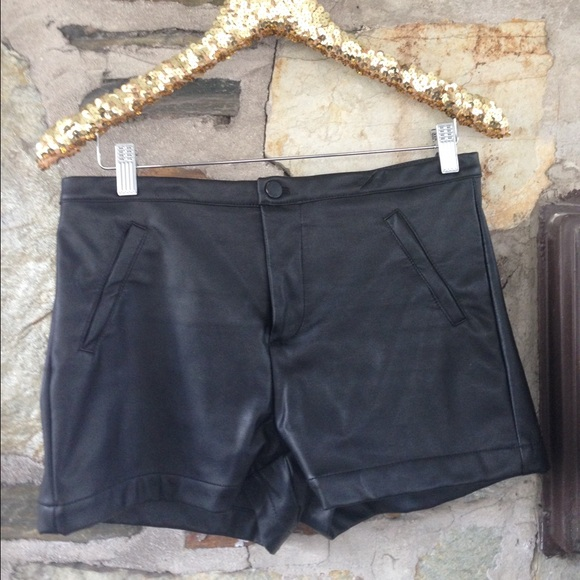 Uniq Leather High Waisted Shorts