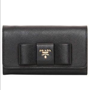 SOLD NWBox Black Prada wallet on a chain
