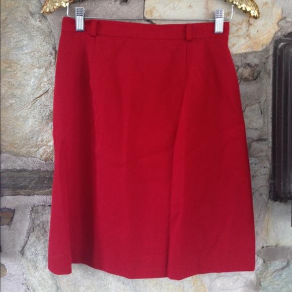 Red Talbots Pencil Skirt