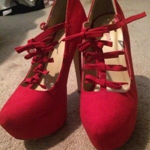 Justfab heels. Size 6.5