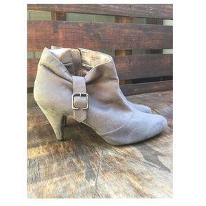 Zara Grey suede ankle booties size 41