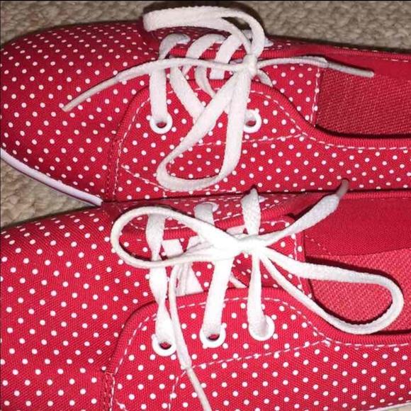 Vans Shoes | Vans Slip On Red Polka Dot