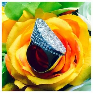 Vince Camuto Pave Crystal Cocktail Ring