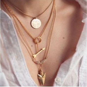 Layer Gold Necklace All layers included arrow