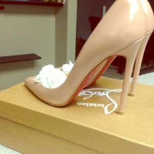 christian louboutin pigalle 120mm silver louboutin 38.5