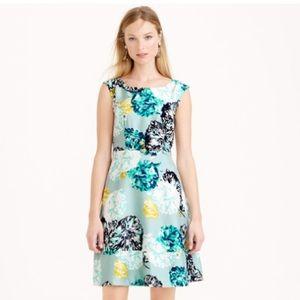 J.Crew silk floral dress