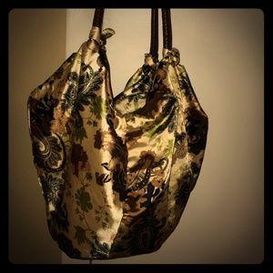 Large Neutral Satin Bag