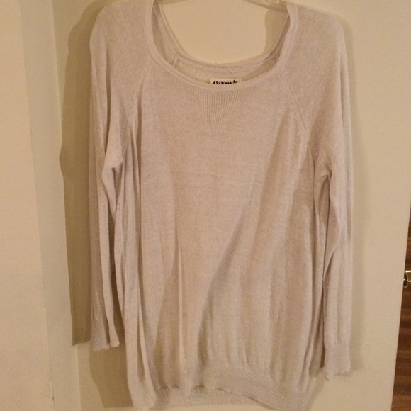 75% off Aritzia Sweaters - Community Cream colored sheer oversized ...