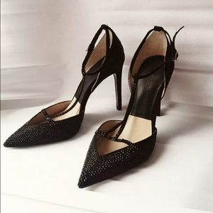Zara Shoes - Zara t strap black pumps with toe cleavage