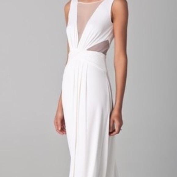 BCBG White Gown BNWT Floor Length Dress