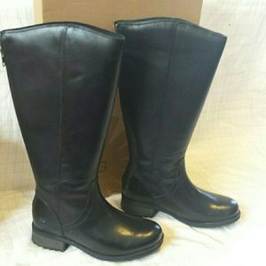 cdd48d4b40d UGG Shoes - Ugg seldon black leather riding knee boots 7.5 NWB