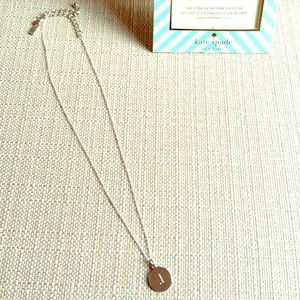 Kate Spade 'one in a million' J initial necklace