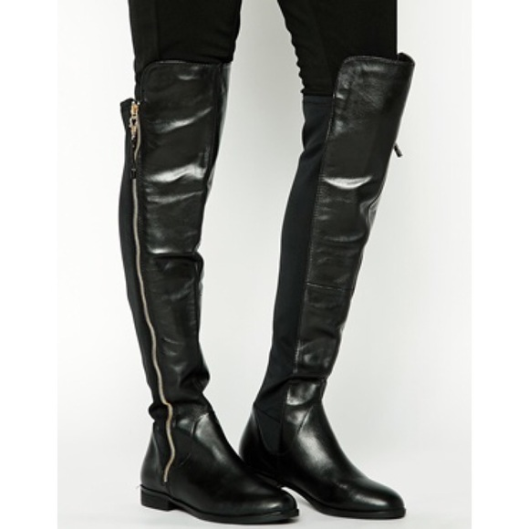 56% off ALDO Boots - ALDO Uliawen Over The Knee Riding Boot Black ...