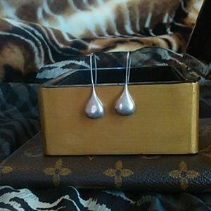Vintage .925 teardrop earrings