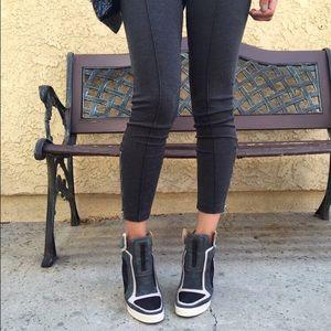 L.a.m.b Frida wedge sneakers.