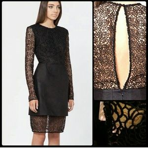 Beautiful black lace Keepsake dress. NWOT.