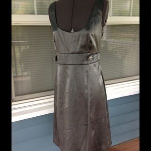 Connected Apparel Dresses & Skirts - NWT🚨CONNECTED APPAREL Gun Metal Gray Dress