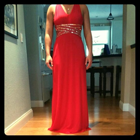 Macy\'s Dresses | Red Formal Dress | Poshmark