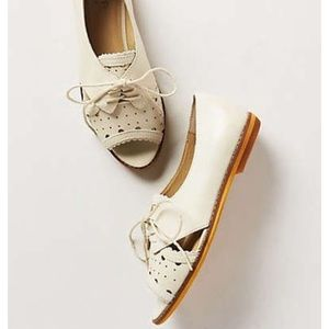 Anthropologie Open toe flat🎀