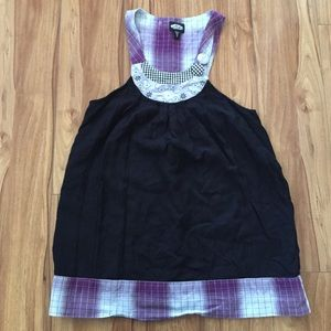 💟5 for $25💟 Black and Purple Vans Tank Top