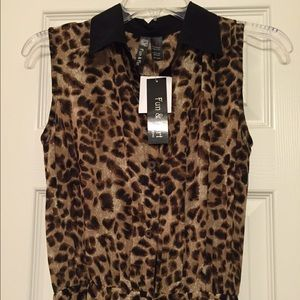 Dresses & Skirts - Pretty sheer leopard sleeveless dress!! NWT