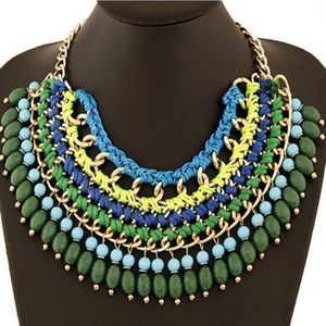 Bohemian Bib Statement Necklace