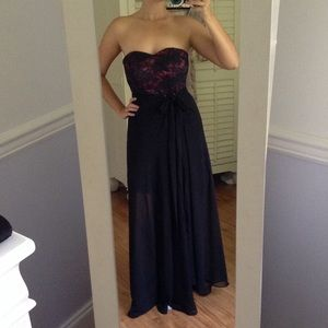 French lace strapless dress