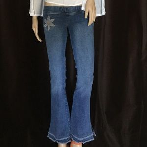 Huzzi Flower Boho Denim xs / 23 / 24