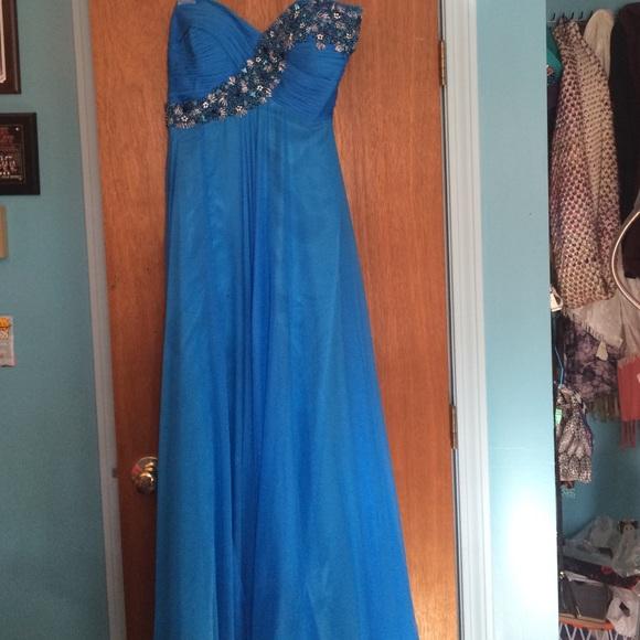 Faviana Dresses | Ocean Blue Prom Dress | Poshmark