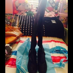 Nine West Shoes - Black over the knee boots