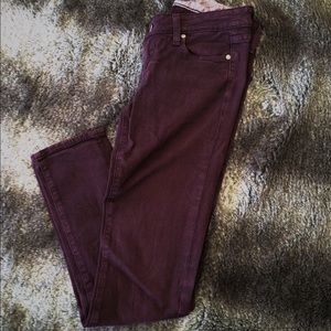 Paige Jeans Denim - Paige Skyline denim purple skinny ankle jeans 26