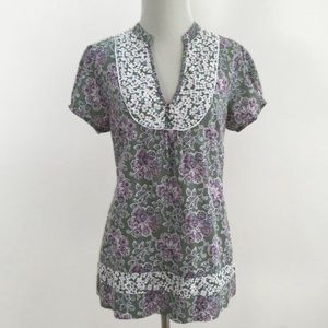 Monsoon Tops - MONSOON   Patchwork Floral Blouse