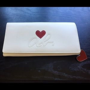 Authentic Agnes B long wallet heart logo series