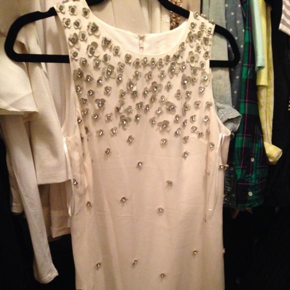 J. Crew Dresses - J. Crew leather florets and crystal shift dress