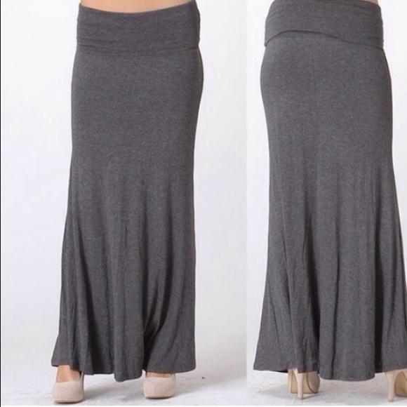 58 bobeau dresses skirts bobeau grey maxi skirt