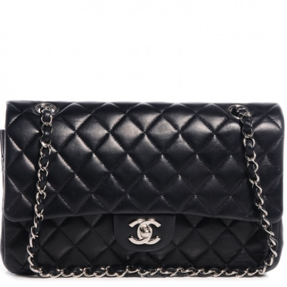 30ed6c87bc6f Chanel Quilted Medium Double Flap in Lambskin
