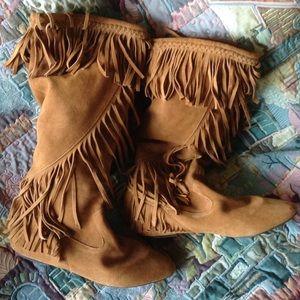 REDUCED Sam Edelman Utah Fringed  Boots