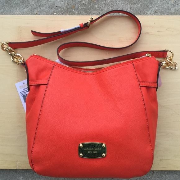 5fbbe3d7ecee Michael Kors Megan TZ LG messenger Bag