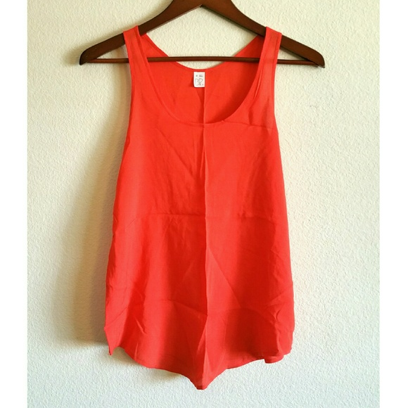 0bcd3858feea0 BP. bright red orange basic flowy tank top blouse.  M 5664ba3951e9ea0d040130e1