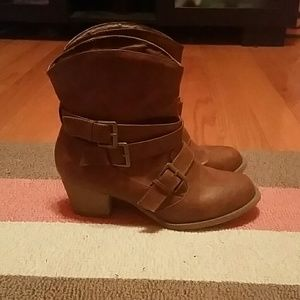 Mudd Brown Ankle Boots