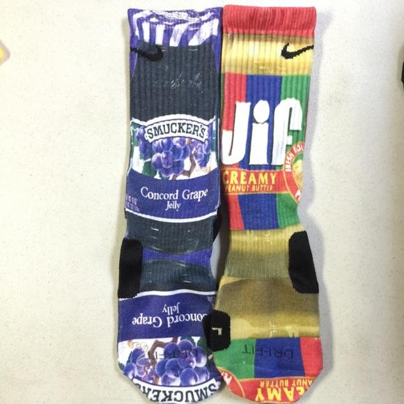 1063c7a293ed ... KD Hyper Elite Crew Basketball Socks Wheaties Nike Other - Custom Peanut  Butter and Jelly Nike elite socks ...