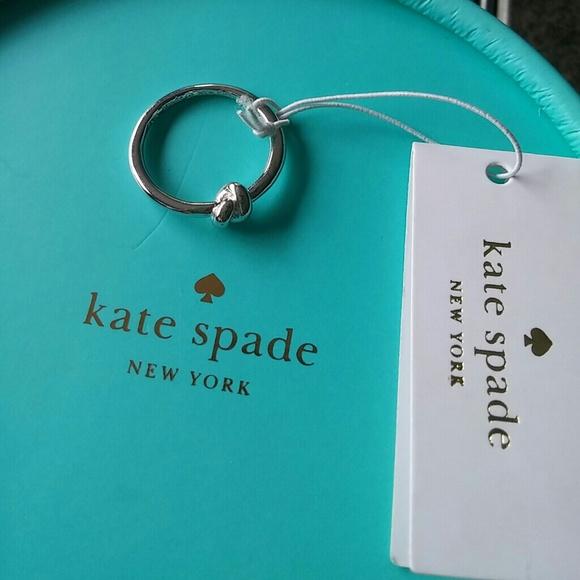 3fbf35783c2e6 Kate Spade Silver Sailor's Knot Ring NWT