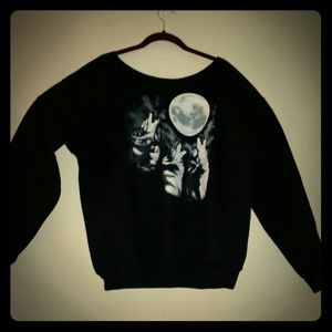 The Howling Off d'Shoulders Slouchy Sweatshirt