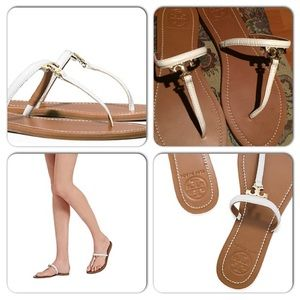 c9a255446cc991 Tory Burch Shoes - ✨Tory Burch T logo flat white thong sandal✨