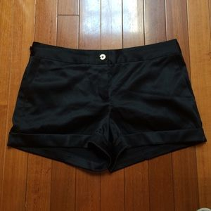 NWOT express Design Studio satin dress shorts sz10