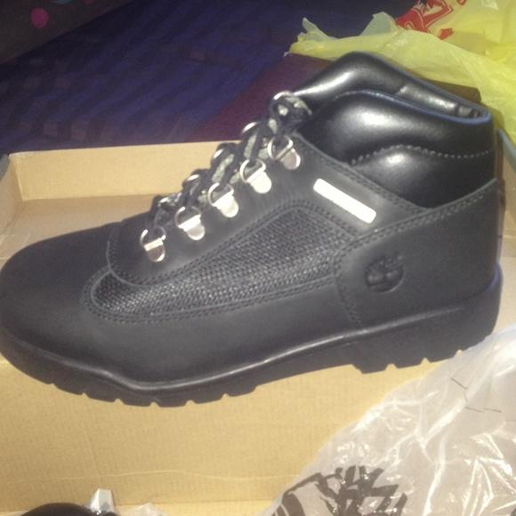 789880f2c08 Black timberland field boots NWT