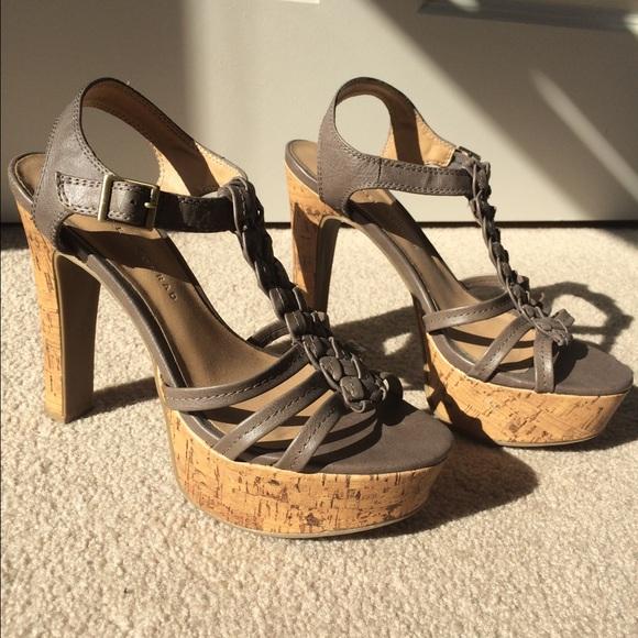LC Lauren Conrad Shoes | Sexy Nude Lace Up Peep Toe Heels