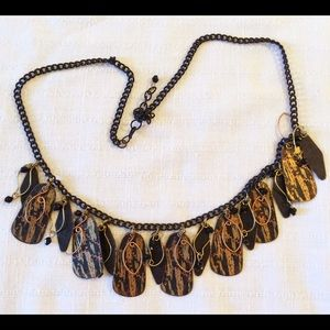 Metal tribal inspired necklace.