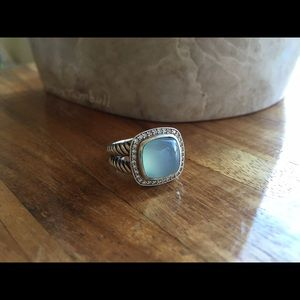 Authentic David Yurman Albion Ring chalcedony