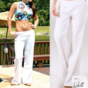 The CHENG fold over pant - WHITE
